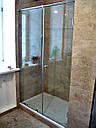 Душевая кабина 180 градусов с распашной дверью на стекле, фото 2