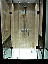 Душевая кабина 180 градусов с распашной дверью на стекле, фото 8
