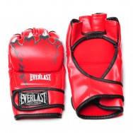 Перчатки для смешанных единоборств MMA PU ELAST BO-3207-B (р-р S-XL, синий,красный,черный)