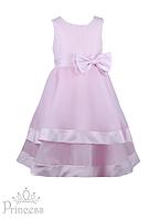 Нарядное детское платье с сердечками на лифе для девочек