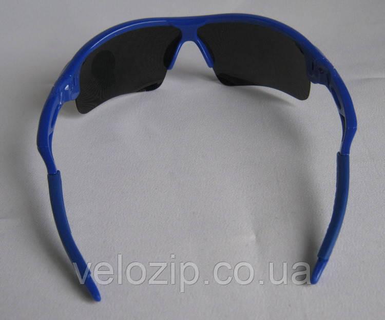 Очки Oakley RadarLock синяя оправа - сине радужные стекла  продажа ... c89ff1f53bf