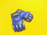 Перчатки для смешанных единоборств MMA PU ELAST BO-3207-B (р-р S-XL, синий,красный,черный) синий