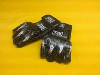 Перчатки для смешанных единоборств MMA PU ELAST BO-3207-B (р-р S-XL, синий,красный,черный) черный
