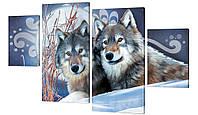 Модульная картина 261 пара волков
