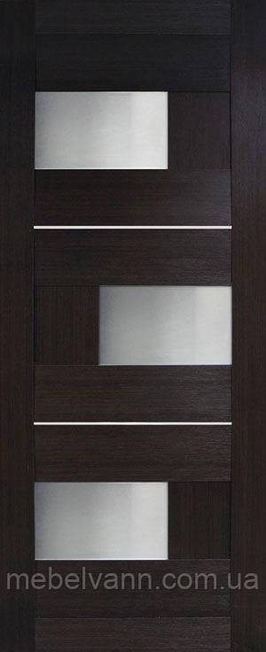 Дверное полотно Куб ПВХ (стекло сатин)