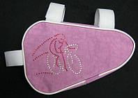 Подрамная сумка стразы Shimano, розовая