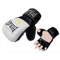 Перчатки для смешанных единоборств MMA PU ELAST BO-4612 (р-р M-XL, черный-красный,черный-белый,красный-че)