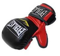 Перчатки для смешанных единоборств MMA PU ELAST BO-4612 (р-р M-XL, черный-красный,черный-белый,красный-че) черный