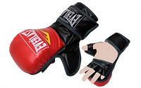 Перчатки для смешанных единоборств MMA PU ELAST BO-4612 (р-р M-XL, черный-красный,черный-белый,красный-че) красный