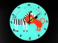 Часы настенные из стекла Африканская любовь