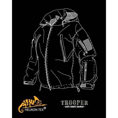Куртка TROOPER - Soft Shell - олива , фото 2