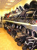 Стеллажи торговые для детских магазинов. Торговое оборудование ВИКО для детских колясок