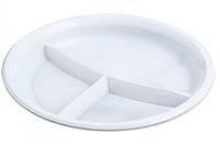 Тарелка одноразовая 205мм 3х-секционная