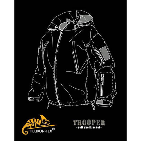 Куртка TROOPER - Soft Shell - PL Woodland, фото 2