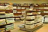 Новые стеллажи для магазина постельного белья. Оборудование для магазина текстиля