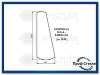 Стекло экскаватор-погрузчик JCB 3CX kabina P8 (монтируется на стеклянных пломб)-правый угол 827/20218
