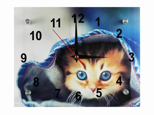 """Часы настенные из стекла Мой котенок - IZUM Market: """"Подарки с изюмом!"""" в Одессе"""
