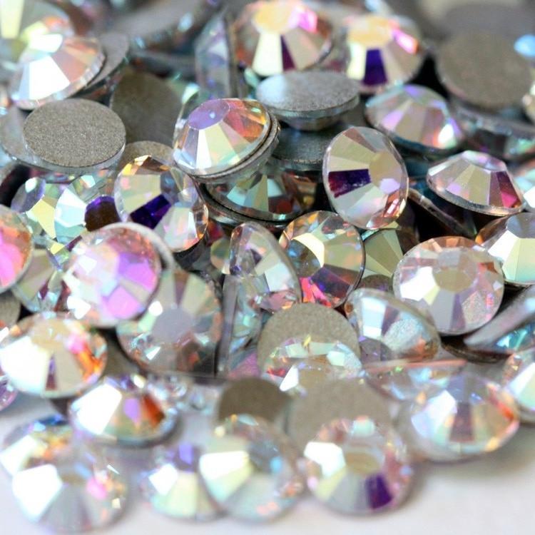 Кристальный | AB Crystal Стразы Имитация Swarovski (Размер 20ss-4,5 мм; Тип_нанесения Клей Е6000) 3ss-1 мм, Клей E6000
