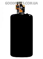 Дисплей с тачскрином и рамкой для LG E960 Nexus 4 черный (Оригинал)