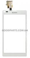 Сенсорный экран (тачскрин) для Sony C2104 S36 Xperia L, C2105 S36h Xperia L белый (Оригинал)