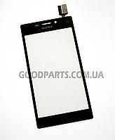 Сенсорный экран (тачскрин) для Sony D2305, D2302, D2303, D2306 S50h Xperia M2 черный (Оригинал)