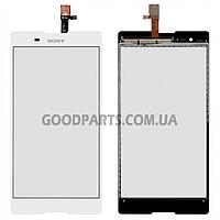 Сенсорный экран (тачскрин) для Sony D5322 Xperia T2 Ultra DS белый