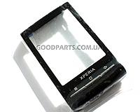 Сенсорный экран (тачскрин) c рамкой для Sony Ericsson X10 mini черный (Оригинал)