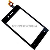 Сенсорный экран (тачскрин) для Sony ST23i Xperia Miro черный (Оригинал)