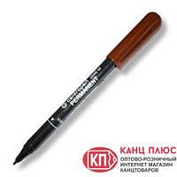 Centropen Маркер перманентный 1мм. Цвета ― коричневый, черный, красный, синий, зеленый.  арт. 2846, фото 1