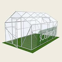 Теплица двускатная 2,5х18м Solidprof, толщина поликарбоната 4мм
