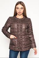 Куртка современная короткая женская демисезонная драпированная АЛ29Ш