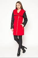 Пальто женское из двух видов ткани АЛ42К