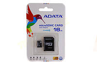 Карта памяти ADATA 16Gb + Адаптер Class 4