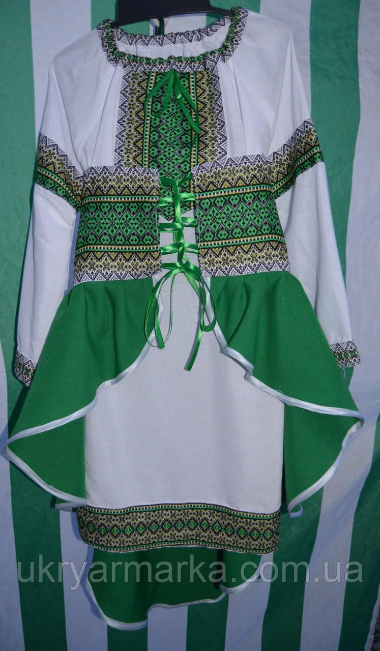 """Костюм для дівчинки """"Радість"""" зелений"""
