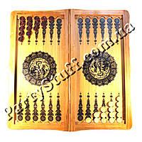 Нарды и шахматы деревянные подарочные, размер 62х32 см, фото 1