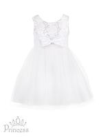 Праздничное белое платье для девочек