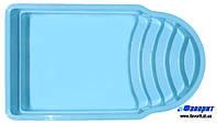 """Стационарный стекловолоконный бассейн """"Феникс"""" 5,20х3,20х1,60 м"""