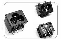 """Гнездо BX-190 (""""миккимаус"""") 250V 10A для блоков питания 3pin"""