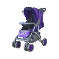 Прогулочная коляска Bambini KING ЧЕХОЛ,violet butterfly, компактная