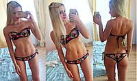 Модный женский купальник с твердой чашечкой, трусики стринги