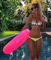 Модный женский купальник с твердой чашечкой, желтый цвет