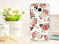 Чехол для Samsung Galaxy Ace 3/ S7270/ S7272/ S7275 панель накладка с рисунком розы на белом фоне