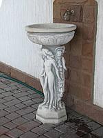 Садовая бетонная скульптура-вазон Три девушки