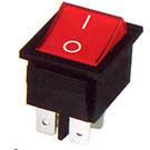 Переключатель клавишный широкий КП-2-220В