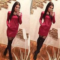 Платье с карманами и кружевом, фото 1