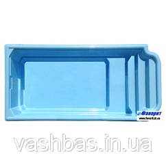 "Стационарный стекловолоконный бассейн ""Атлантида"" 5,85х2,90х1,50 м"