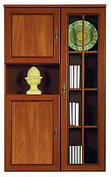 Витрина - шкаф для белья Виктор яблоня темная (BRW TM)