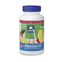 Витамины для концентрации внимания Внимательный ребенок, Source Naturals, 60 таблеток