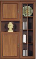 Витрина - шкаф для белья Виктор орех аоста темный (BRW TM)