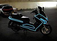 Подсветка на мопед гибким неоновым проводом.
